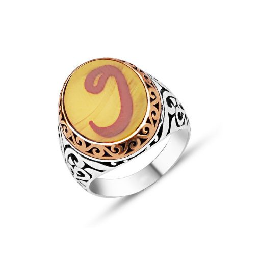 Amber Rings sterling silver