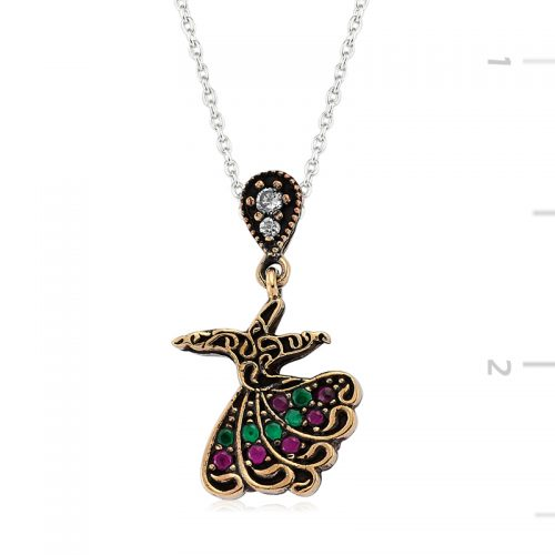 Authentic Whirling Dervish Necklace-IJ1-2110-Islamic-Jewelry