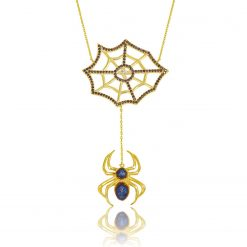 Cobweb Silver Necklace-IJ1-1694-Islamic-Jewelry