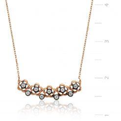 Daisy Silver Necklace-IJ1-1314-Islamic-Jewelry