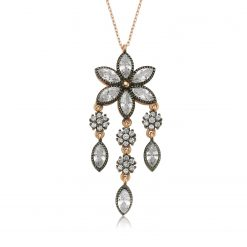 Daisy Silver Necklace-IJ1-1387-Islamic-Jewelry