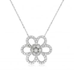 Daisy Silver Necklace-IJ1-1935-Islamic-Jewelry