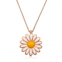 Daisy Silver Necklace-IJ1-2046-Islamic-Jewelry