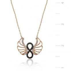 Infinity Pendant Silver Angel Wings-IJ1-1304-Islamic-Jewelry
