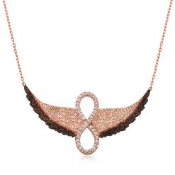 Infinity Pendant Silver Wings-IJ1-2050-Islamic-Jewelry
