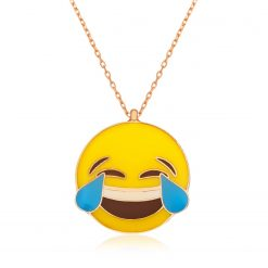 Laughter Silver Necklace Atan Emoji-IJ1-1949-Islamic-Jewelry