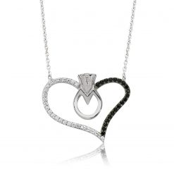 My heart Silver Solitaire Pendant-IJ1-1492-Islamic-Jewelry