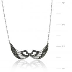 Silver Angel Wing Pendant-IJ1-1306-Islamic-Jewelry