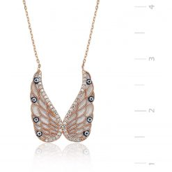 Silver Butterfly Necklace genres change-IJ1-1329-Islamic-Jewelry