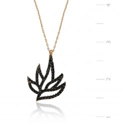 Silver Leaf Necklace-IJ1-1322-Islamic-Jewelry