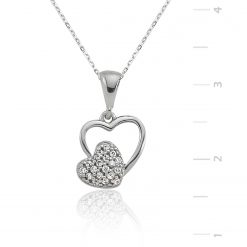 Silver Pendant heart-IJ1-1286-Islamic-Jewelry