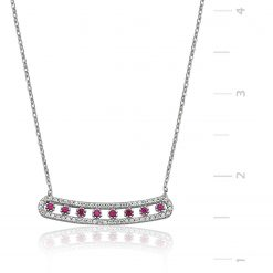 Silver Ruby Necklace-IJ1-1315-Islamic-Jewelry