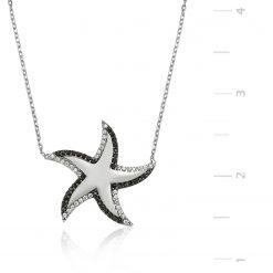 Silver Starfish Pendant-IJ1-1330-Islamic-Jewelry