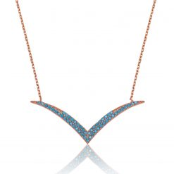 VA Sterling Silver Turquoise Necklace-IJ1-1622-Islamic-Jewelry